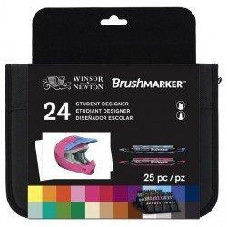 SET 24 ROTULADORES BRUSHMARKER WINSOR & NEWTON STUDENT DESIGNER