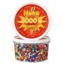 HAMA MIDI MIX 00 (10 COLORES) 3000 PIEZAS EN BOTE
