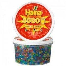 HAMA MIDI MIX 53 (TRANSLÚCIDO/ TRANSPARENTE) 3000 PIEZAS EN BOTE