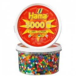 HAMA MIDI 68 (48 COLORES) 3000 PIEZAS EN BOTE
