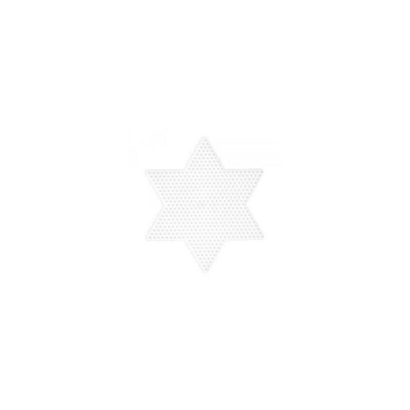 PLACA / PEGBOARD ESTRELLA GRANDE PARA HAMA MIDI